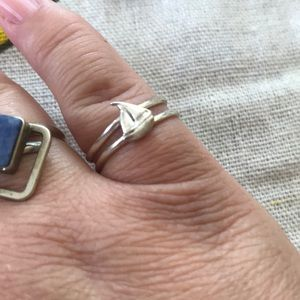 Sail boat toe ring in silver sterling 9.25